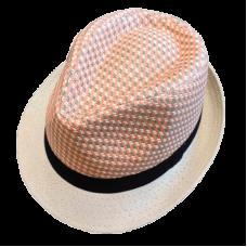 fedora hat with head melange design