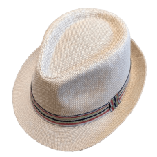 fedaora hat melange color with stripes ribbon