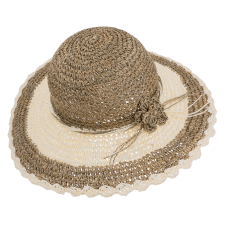 woman hat in straw and paper