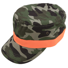 army-hat camouflage with orange band