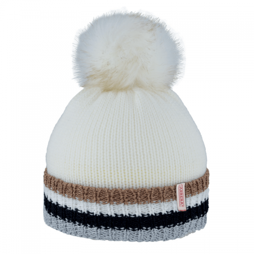 bonnet lurex striped turn up