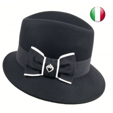 fedora bow two colors