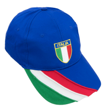 baseball cap with embroidery italy logo and italian flag on the visor
