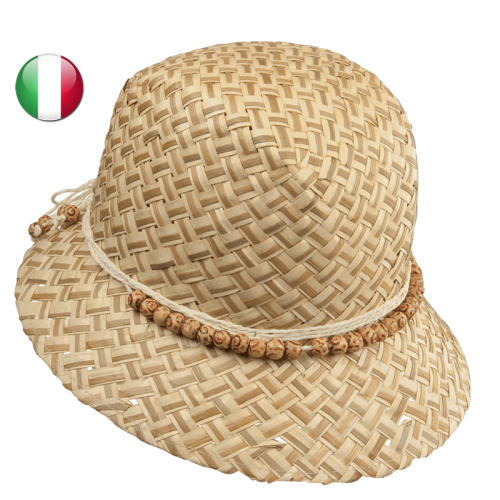 straw hat two colors